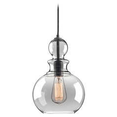 Farmhouse Industrial Mini-Pendant Light Graphite Staunton by Progress Lighting