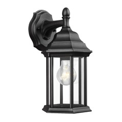 Sea Gull Lighting Sevier Black Outdoor Wall Light