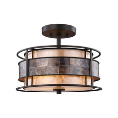 Elk Lighting Tremont Tiffany Bronze Semi-Flushmount Light