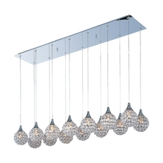 Modern Multi-Light Pendant Light 14-Lights
