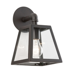 Outdoor Wall Light with Clear Glass in River Valley Rust Finish