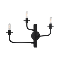 Modern Sconce Wall Light in Satin Black Finish