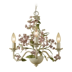Mini-Chandelier in Cream Finish