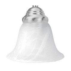 Livex Lighting White Alabaster Bell GL1283