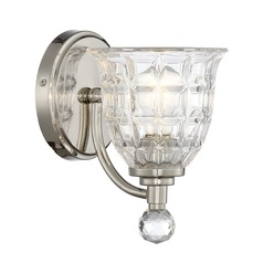 Savoy House Lighting Birone Polished Nickel Sconce