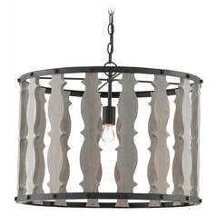 Currey and Company Jamie Beckwith Blacksmith / Driftwood Gray Pendant Light