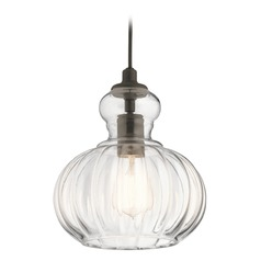 Transitional Pendant Light Olde Bronze Riviera by Kichler Lighting