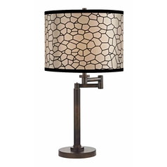 Design Classics Lighting Modern Swing Arm Lamp with Black Shade in Bronze Finish 1902-1-604 SH9503