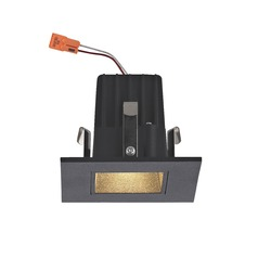 Square Trim LED Recessed Module for 2-Inch Cans - Black Finish
