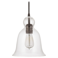 Capital Lighting Burnished Bronze Mini-Pendant Light with Bell Shade