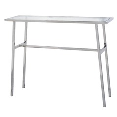Kenroy Home Tristan Polished Stainless Sofa Table