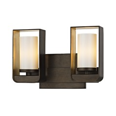 Troy Lighting Escape Bronze / Gold Leaf LED Bathroom Light