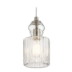 Transitional Pendant Light Brushed Nickel Riviera by Kichler Lighting