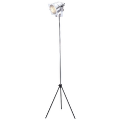 Modern Floor Lamp in Chrome Finish