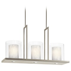 Kichler Lighting Kichler Modern Island Light with Clear Glass in Classic Pewter Finish 42548CLP