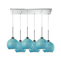 Elk Lighting HGTV Blue Multi-Light Pendant - Six Lights  10240/6rc-aq
