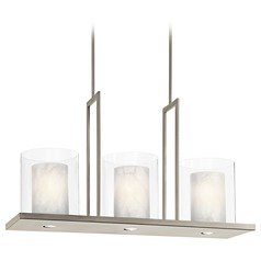 Kichler Modern Island Light with Clear Glass in Classic Pewter Finish