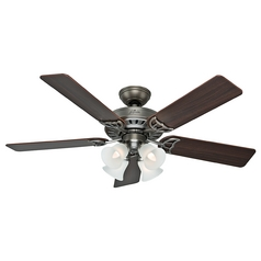 Hunter Fan Company Studio Series Antique Pewter Ceiling Fan with Light