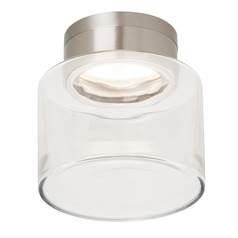 Satin Nickel LED Flushmount Ceiling Light by Tech Lighting