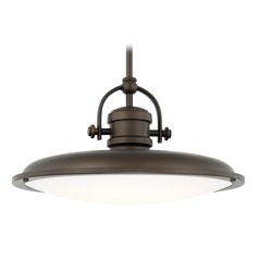 Capital Lighting Pendants Burnished Bronze LED Pendant Light with Bowl / Dome Shade