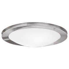 Eglo Sirio Matte Nickel & Chrome Flushmount Light