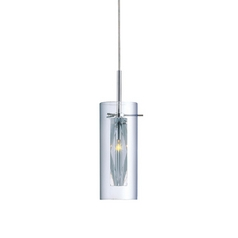 Clarte Cylindrical Mini-Pendant with Crystal Accent