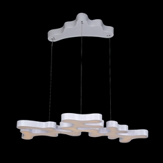 Avenue Lighting Coral Reef Court Silver LED Pendant Light