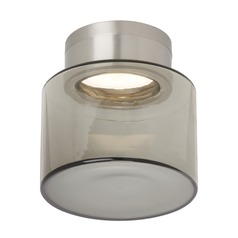 Tech Casen Satin Nickel LED Flushmount Light