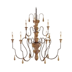 Chandelier in Mansion Gold Finish