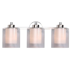 Kenroy Home Lighting Orienta Polished Nickel Bathroom Light