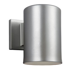 Sea Gull Lighting Outdoor Bullets Painted Brushed Nickel Outdoor Wall Light