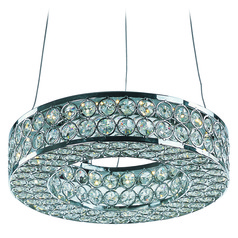 Maxim Lighting Eternity LED Polished Chrome LED Mini-Pendant Light with Drum Shade