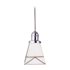 Hudson Valley Lighting Mini-Pendant Light with White Glass 3101-SN-1271