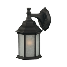 Design Classics Outdoor Wall Lantern - 12-Inches Tall 9204ES-1 BK