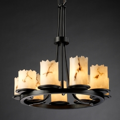 Justice Design Lumenaria 9-Light Chandelier in Matte Black