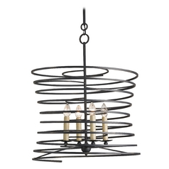 Currey and Company Lighting French Black Pendant Light