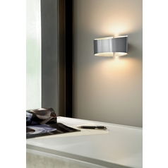 Holtkoetter Modern Sconce Wall Light in Stainless Steel Finish