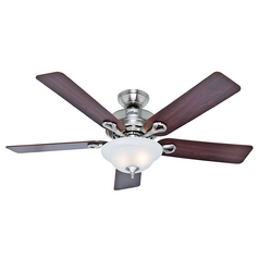 Hunter Fan Company the Kensington Brushed Nickel Ceiling Fan with Light