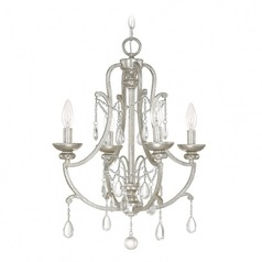 Capital Lighting Capital Chandelier Antique Silver Mini-Chandelier