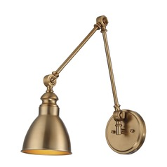 Savoy House Lighting Dakota Warm Brass Sconce