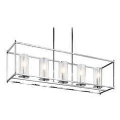 Modern Linear Chandelier Chrome Crosby by Kichler Lighting