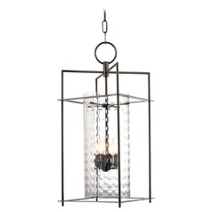 Modern Mini-Pendant Light with Clear Glass in Old Bronze Finish