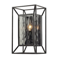 Elk Lighting Sconce Wall Light with Clear Glass in Oiled Bronze Finish 14120/1