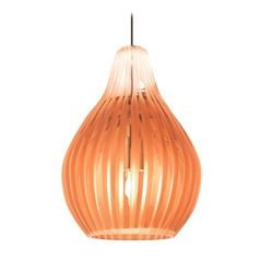 Avery Antique Bronze Mini-Pendant Light with Teardrop Shade by Tech Lighting