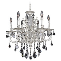 Allegri Casella 6-Light Crystal Chandelier in 2-Tone Silver