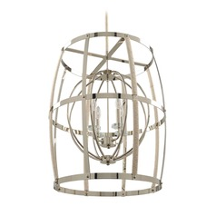 Kalco Bradbury Polished Nickel Pendant Light