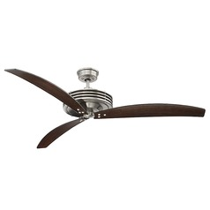 Savoy House Lighting Fairfax Satin Nickel Ceiling Fan with Light