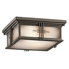 Kichler Outdoor Ceiling Light in Bronze Finish