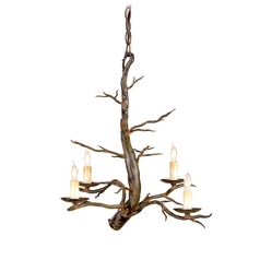 Branch Mini-Chandelier in Old Iron Finish