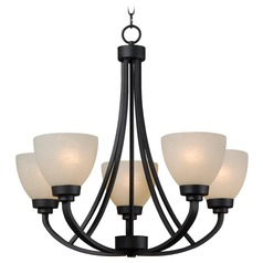 Kenroy Home Lighting Dynasty Burnished Bronze Chandelier